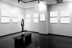 Empty frame in art museum Royalty Free Stock Image