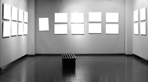 Empty frame in art museum Stock Images