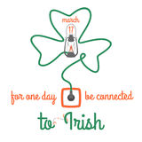 For one day connected to Irish, vector illustration Royalty Free Stock Image
