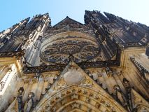One day day in center of Prague. St. Vitus Cathedral Prague, picture taken in february 2015 royalty free stock photo