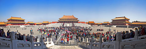 One day of the Imperial Palace in Beijing Royalty Free Stock Photos
