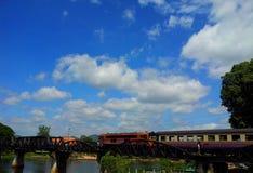 One day in Kanchanaburi. A bridge of river kwai Stock Photography