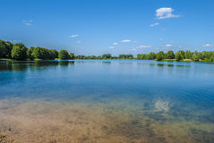 One Day at the Lake. Landscape - lake - bright sunny day Stock Photos