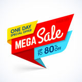 One Day Mega Sale banner Stock Photo