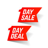 One Day Sale and Deal signs Stock Photo