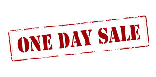 One day sale Stock Image