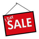One Day Sale Sign Royalty Free Stock Photography