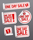 One Day Sale stickers. Royalty Free Stock Images