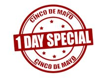 One day special. Stamp with text one day special inside,  illustration Stock Image