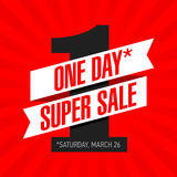 One Day Super Sale banner Stock Images