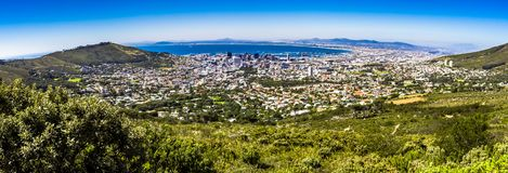 Table mountain in cape town royalty free stock photography