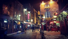 One day in temple bar stock image