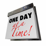 One Day at a Time Calendar Words Royalty Free Stock Photography