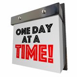 One Day at a Time Patience Progress Calendar Pages 3D Illustration vector illustration