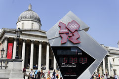 One day to London 2012 Olympics Royalty Free Stock Image