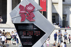 One day to London 2012 Olympics Royalty Free Stock Photo