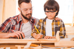 One day you will be a talented carpenter. Royalty Free Stock Image