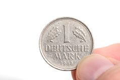 One Deutschmark Royalty Free Stock Photos