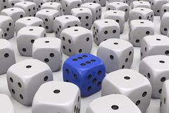 One Die is different Stock Photo
