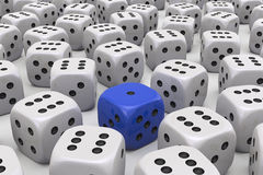 One Die is different Stock Image