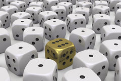 One Die is different Stock Images