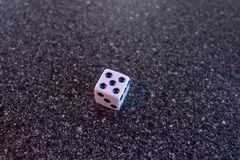 One die five. One die rolls five cube stock images