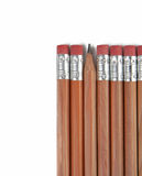 One is different. Group of pencils over white background Royalty Free Stock Image