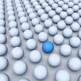 One different element of crowd Royalty Free Stock Image