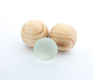 One different glass ball. Stock Photos