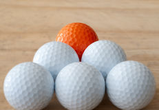 One Different Golf Ball Royalty Free Stock Photos