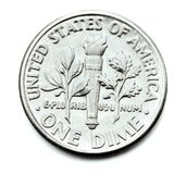 One Dime Coin Royalty Free Stock Photos