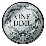 One dime Royalty Free Stock Photography