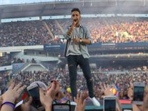 One direction concert stockholm royalty free stock image