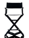 One director chair  silhouette Stock Photography
