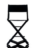 One director chair  silhouette Royalty Free Stock Images