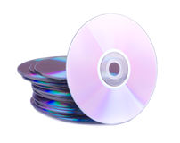 One disc and stack of CDs Royalty Free Stock Image