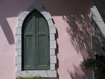 One of the distinctive gray windows.  Royalty Free Stock Photo