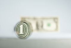One dollar Royalty Free Stock Images
