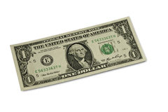 One Dollar. One US paper dollar note Royalty Free Stock Image