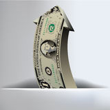 One Dollar Arrow Background. For Print or Web Royalty Free Stock Image