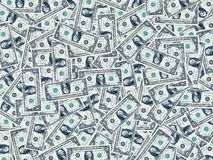 One dollar background. Background from one dollar banknotes Royalty Free Stock Photography