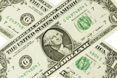 One dollar on background Royalty Free Stock Photography