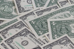 One dollar backgroung Royalty Free Stock Photos