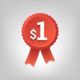 One dollar badge Royalty Free Stock Image
