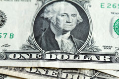 One dollar banknote close up Stock Photo