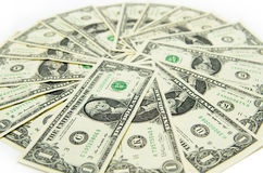 One dollar banknote. On isolate background royalty free stock photo