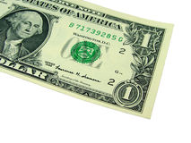 One dollar bill. Isolation Stock Photo