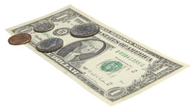 One dollar bill Royalty Free Stock Image