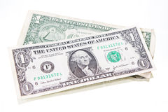 One dollar bill Royalty Free Stock Photo