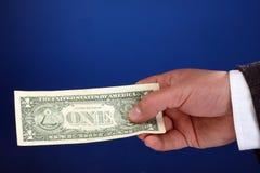 One dollar bill Royalty Free Stock Photo